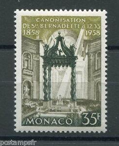 Monaco 1958, Timbre 500, Apparitions Lourdes, Neuf**, Bernadette, Vf Mnh Stamp Gagner Les éLoges Des Clients