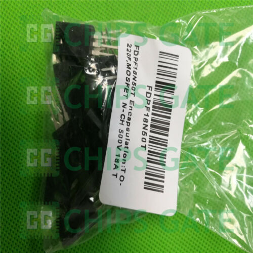 15PCS FDPF18N50T Encapsulation:TO-220F,MOSFET N-CH 500V 18A TO-220F