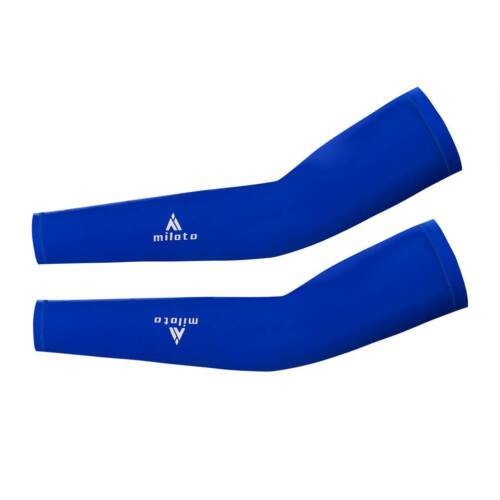 Men/'s Women/'s Cycling Arm Warmers Biking UV Sun Arm Sleeves Black//Blue//Red//White