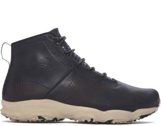 Under Armour Speedfit Hike Leather Mid Boots Men's Size 12 Black 1276371-001