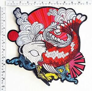 Big Japanese Koi Fish Cartoon Patch Biker Diy Patches T Shirt Sew Iron On Patch 885517533728 Ebay
