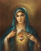 Immaculate Heart Of Mary Poster, 13 X 17 - Made In Italy, New, Free Shipping on sale
