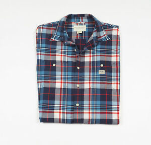 RALPH-LAUREN-Men-039-s-Blue-checked-long-sleeved-Casual-Shirt-Size-Large
