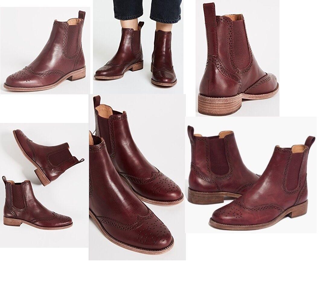 Madewell Chelsea Brogue botas dark cabernet mujer footwear botaies botaies botaies new in box 564bd4