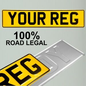 1x Jaune Pressé Numéro Plaque Metal Inscription Reg Royaume-uni Route Légal 100% No Gb-afficher Le Titre D'origine Disponible Dans Divers ModèLes Et SpéCifications Pour Votre SéLection