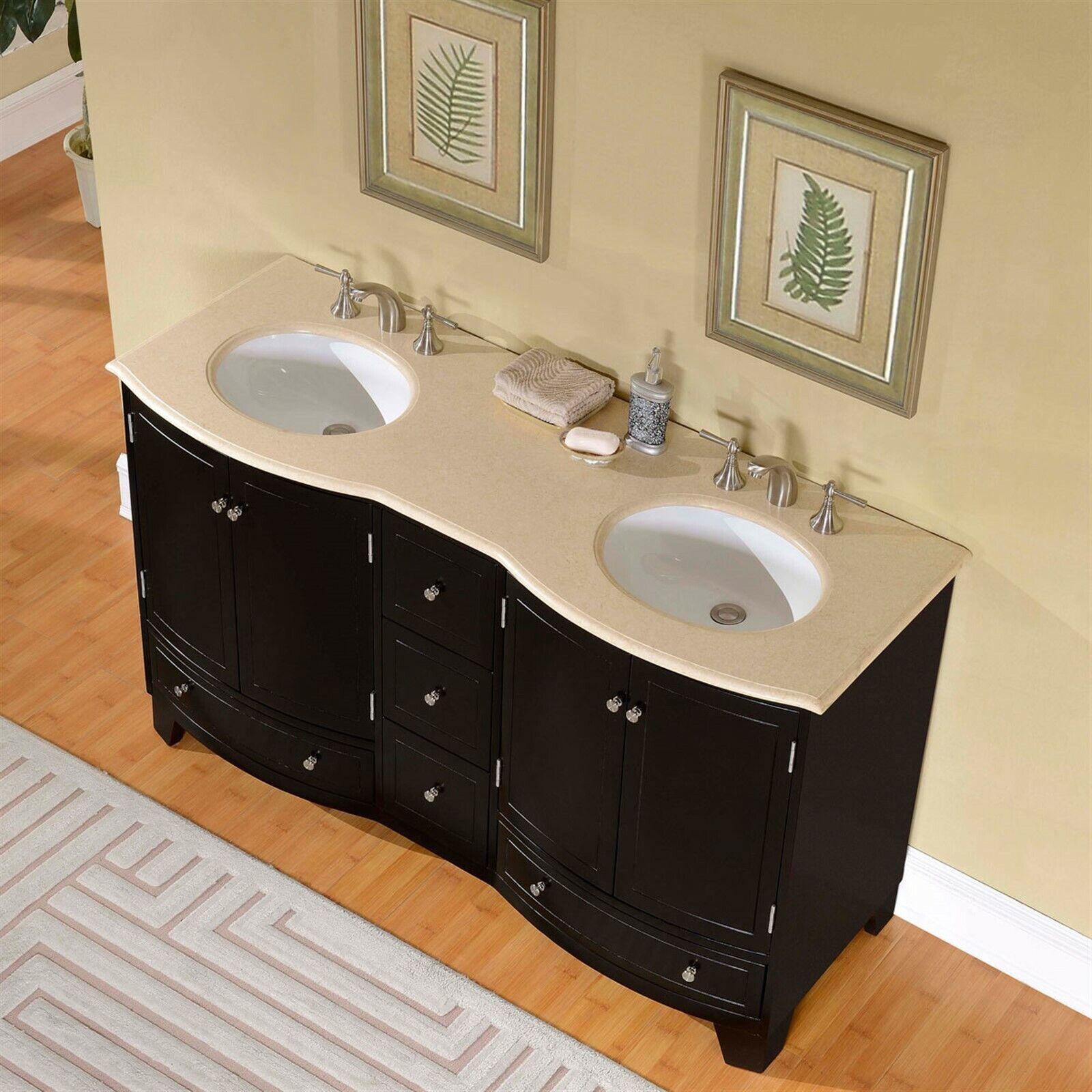 Virtu Usa Bradford 60 Inch Double Sink Bathroom Vanity Set For Sale Online Ebay