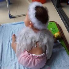 Baby Engelsflügel Kopfband Kostüme Weihnachten Christbaumschmuck Foto-Stütze DD