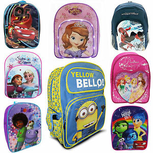 Kids-Disney-Character-Back-To-School-Bag-Rucksack-Backpack-Brand-New-Gift