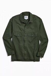 BDG Men's Herringbone Long Sleeve Over Shirt Jacket Size Large NEW