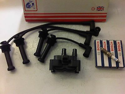 FORD FOCUS mk2 /& C MAX 1.4 1.6 BOSCH IGNITION COIL PACK,PLUGS /& LEADS 05 onwards