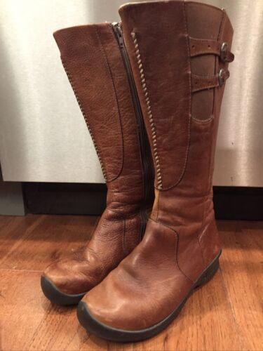 KEEN Knee High Boot Women size 7.5 Brown Leather B