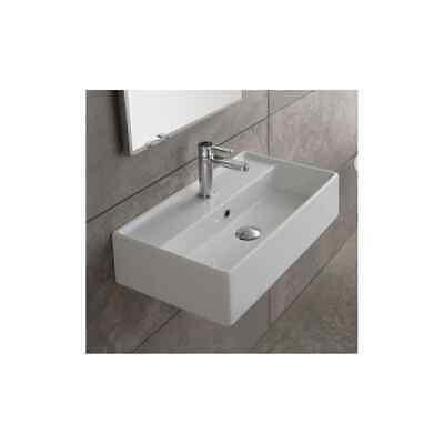 Scarabeo 5001 Teorema 16 1 8 Ceramic Wall Mounted Vessel Bathroom Sink Ebay