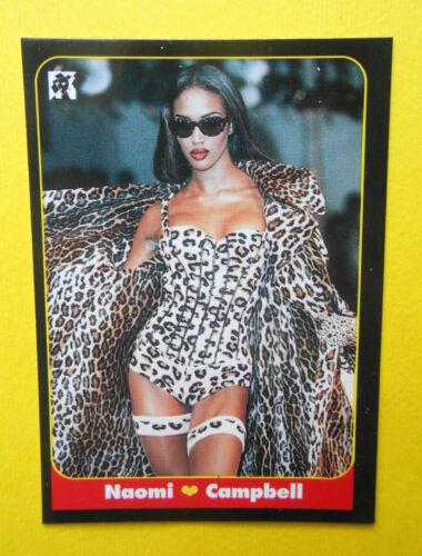 figurines cromos figurine masters card 37 naomi campbell 1993 model attrici moda