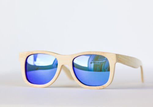 Blue Lens UV Protection Polarized Unisex Polarized Bamboo Sunglasses