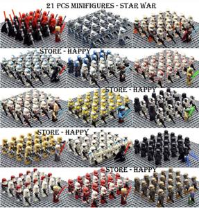 21-22-Pcs-Minifigure-Star-Wars-Clone-Trooper-Captain-Rex-Palpatine-Army-Lego-MOC