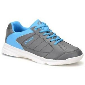 Boys-Dexter-RICKY-IV-Lite-Bowling-Shoes-Grey-Blue-Sizes-1-6