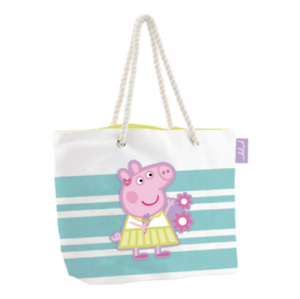 PEPPA PIG STRAW BEACH HOLIDAY SWIMMING BAG