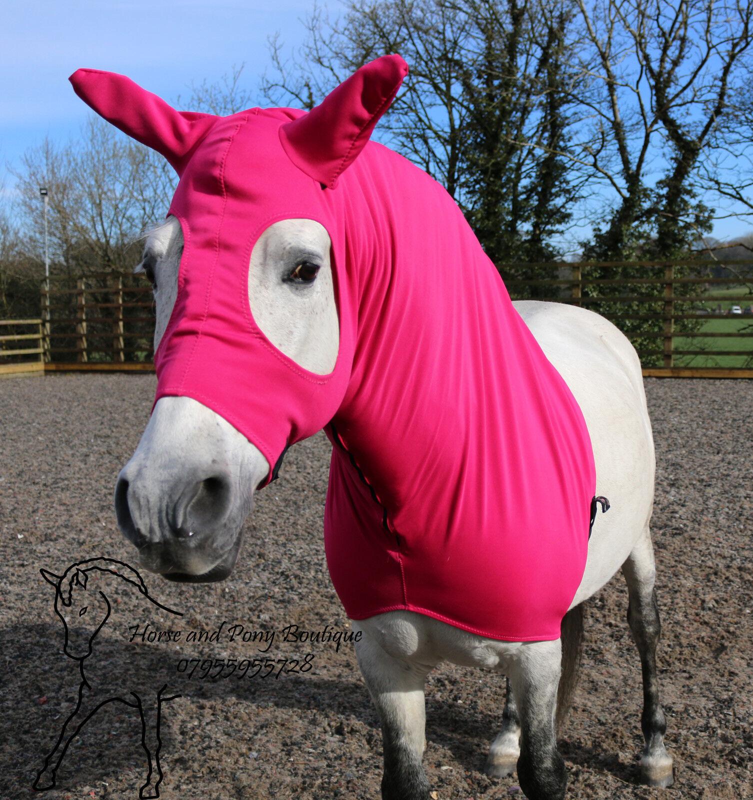 Cerise  Pink horse hood, horse showing hood, Stretch horse hood, BESPOKE  quality guaranteed