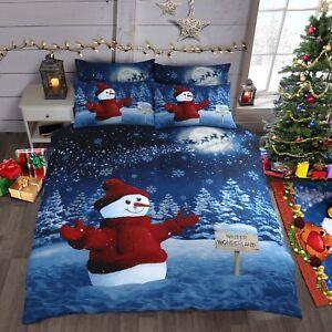 Home & Garden Christmas Tree Reindeer Snowman Xmas Stag Quilt Cover Duvet Cover Bedding Set Great Varieties