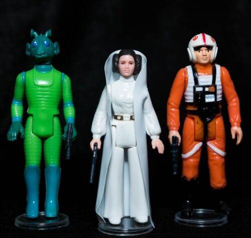 Palitoy X100 nuova collezione di piccole dimensioni chiaro display sta per Vintage Star Wars