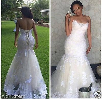 Mermaid Wedding Dresses Custom Plus Size Bridal Gowns 4 6 8 10 12 16 18 20  22 ++ | eBay