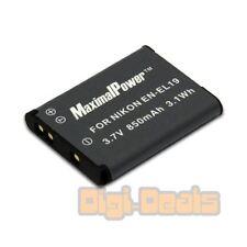 Camera Battery For Nikon EN-EL19 Coolpix S100 S2500 S3300 S4100 S4300 850mAh