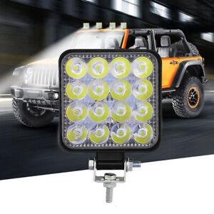 Square 48W LED Work Light 12V 24V Spot Lamp Waterproof For Car Truck SUV