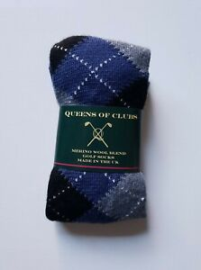 "Merino Wool Blend Golf Socks  size 6-9  woman ""St. Andrews Blue"""