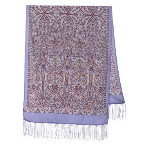 1388-3 Pavlovo Posad russe laine châle 100/% Laine Foulard soie Frange Chaud
