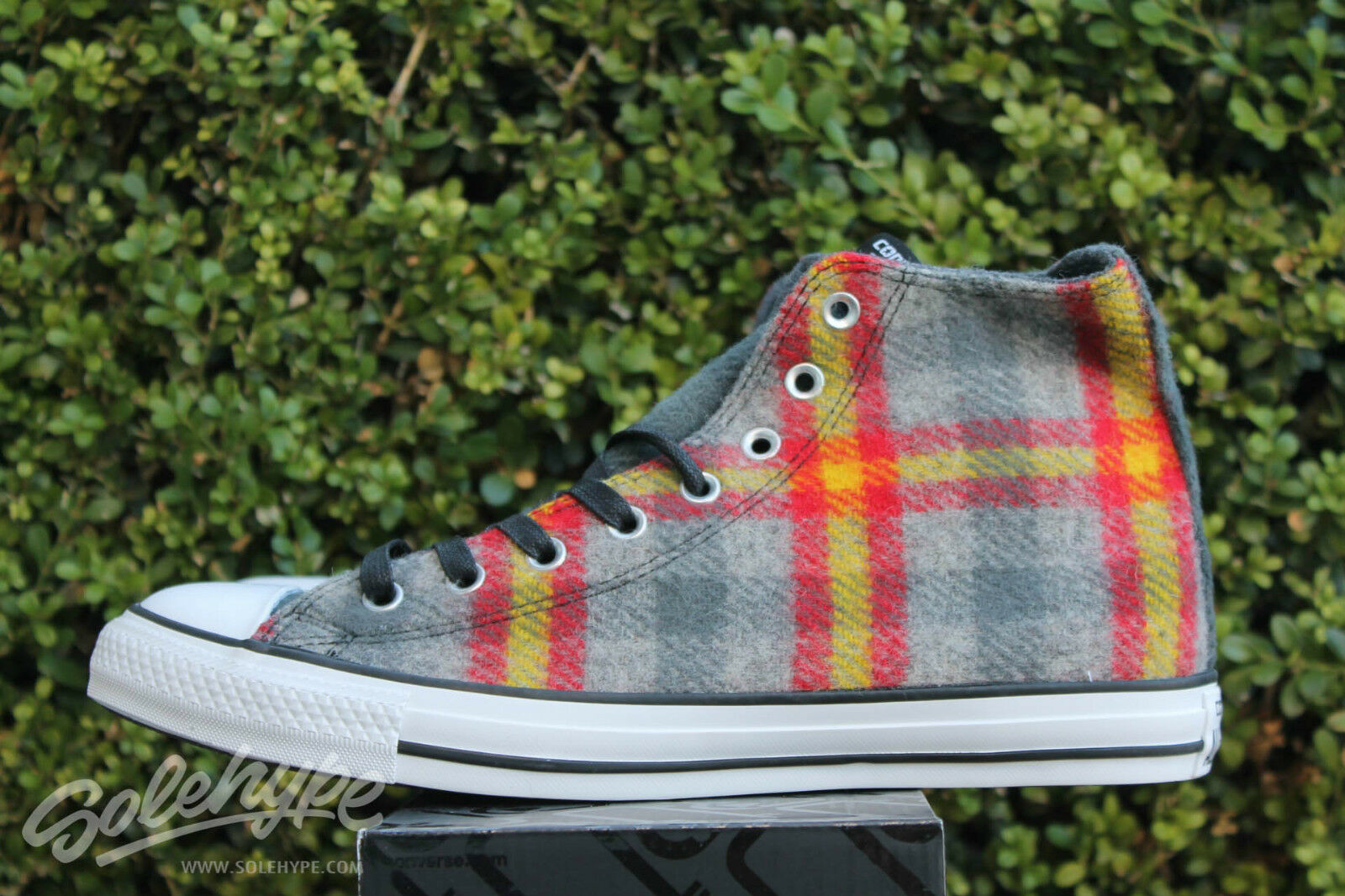 CONVERSE ALL STAR CHUCK TAYLOR WOOLRICH CT HI SZ 7.5 THUNDER YELLOW RED 149456C