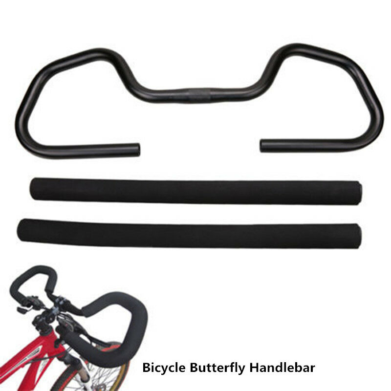 MTB Road Bike Bicycle Butterfly Handlebar 25.4//31.8*580mm Aluminium Handlebar