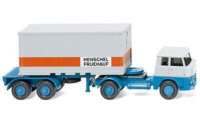 """#052601 - Wiking Container Autoarticolati (henschel) """"henschel Fruehauf"""" - 1:87-lzug (henschel) """"henschel Fruehauf"""" - 1:87 It-it Mostra Il Titolo Originale"""