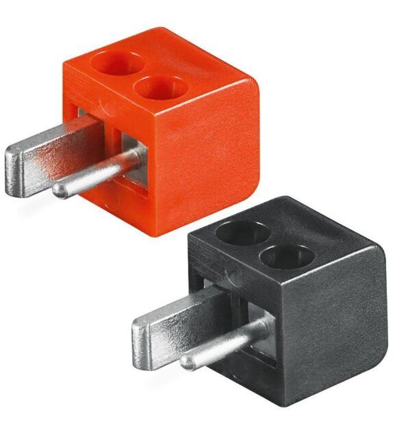 4x Lautsprecher-Stecker Mini DIN: 2x rot+2x schwarz; lötfrei; Winkelstecker; KFZ