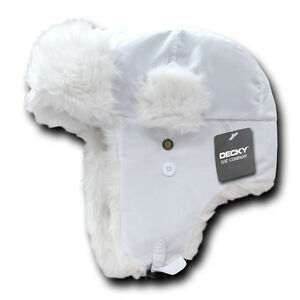 Orange Aviator Bomber Faux Fur Winter Ski Trooper Trapper Ear Flap Hat Cap L//XL