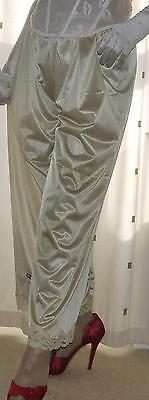 Gold silky nylon vintage style  pantie slip~pettipants~culottes~bloomers 20~22