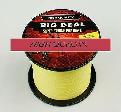 Yellow Lines Spectra PE Dyneema Braid Fishing Line 100M 10-100LB 4S New