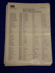 Objectif Original Pièce De Rechange Liste Solo 272 Moteur-rare-e Solo 272 Motor - Rarität Fr-fr Afficher Le Titre D'origine