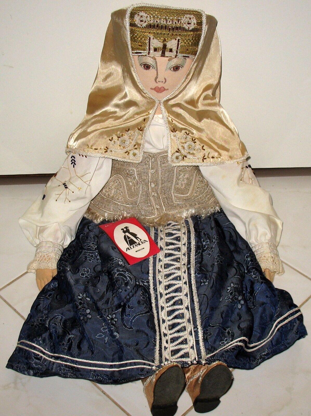 Nuevo Con Etiquetas-Alexandra-Moscú 29  hecho a mano decorado Muñeca de coleccionista