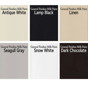 Details About General Finishes Water Based Interior Exterior Milk Paint Gallon Top 6 Colors