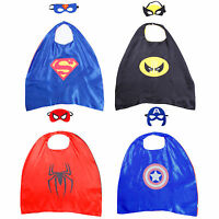 Costume Cape Masque Déguisement Enfant Superhero Batman Spiderman Captain