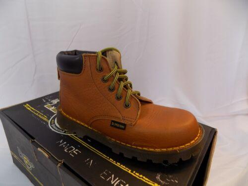 New Vtg Dr Doc Martens Kids 5 Eye Boots 6006 Peanut NOS UK Child 12 US Youth 13