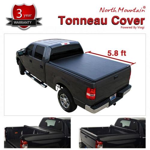 Soft Vinyl Roll-Up Tonneau Cover Fit 07-13 Silverado//Sierra 1500 5.8/' Short Bed