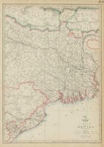 East Indian Railway Calcutta-raniganj Bengal Weller Dispatch Atlas 1863 Map