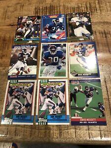 Dave David Meggett 9 card ROOKIE lot New York Giants Topps Pro Set