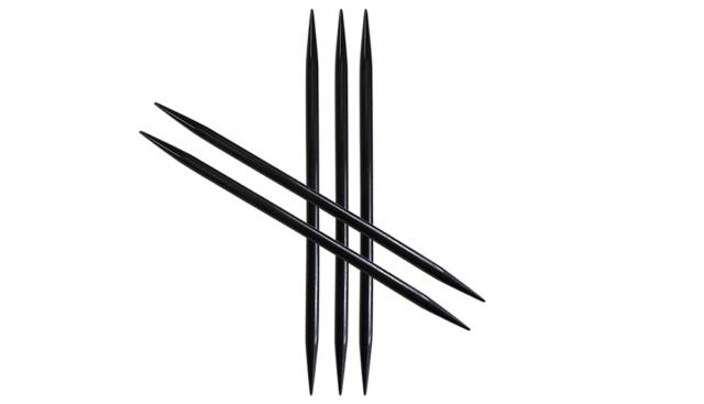 "HiyaHiya 6/"" 1.5 US :Nirvana Needle Arts Ebony Double Pointed Needles:"