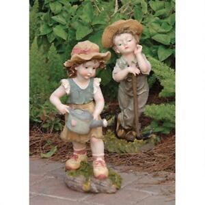 Image Is Loading Set Of 2 Farmer Children Childhood Planting