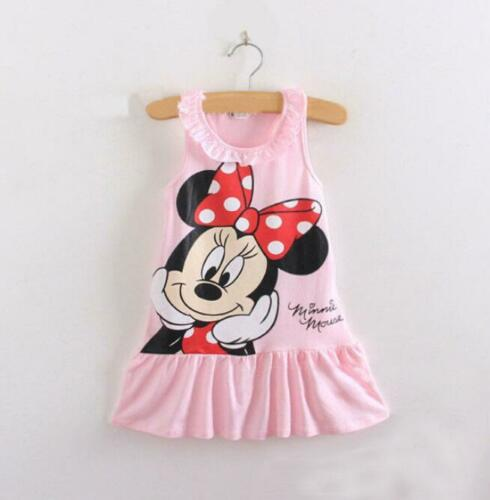 1PC Girls baby clothes kids Baby Girls summer DRESS Party daily cartoon dress