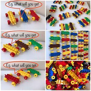 Lego-Duplo-Train-Car-Bases-Lot-Of-3-Pieces-Various-Colors-Assorted-Random
