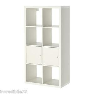 IKEA KALLAX Scaffale con ante, bianco libreria EX EXPEDIT | eBay