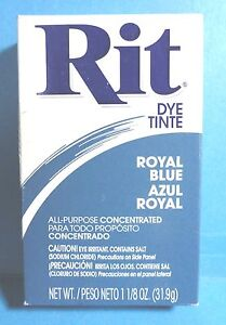 Vintage Rit Royal Blue Fabric Clothes Dye